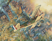 Wwi Mixed Media Metal Prints - First Over The Front Metal Print by Randy Green