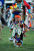 Lakota Framed Prints - First PowWow Framed Print by Chris  Brewington Photography LLC