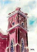 Evansville Painting Prints - First Presbyterian Church  Print by Todd Derr