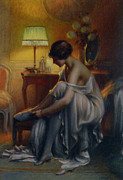 Table Lamp Framed Prints - First Primers Framed Print by Delphin Enjolras