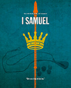 King Mixed Media - First Samuel Books of the Bible Series Old Testament Minimal Poster Art Number 9 by Design Turnpike