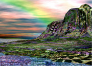Fractal Presets Metal Prints - First Shore Over the Rainbow v.3 Metal Print by Rebecca Phillips