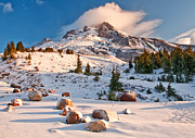 Mount Hood Oregon Prints - First Snow Print by Darren  White