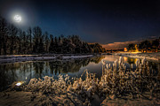 Full Moon Photos - First Snow by Everet Regal