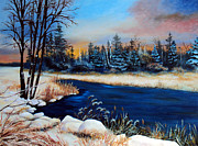 Maine Paintings - First Snow by Laura Tasheiko