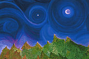 Star Of Bethlehem Paintings - First Star Wish by jrr by First Star Art