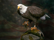Eagle Sculptures - First Strike - Bald Eagle  by Jim Day