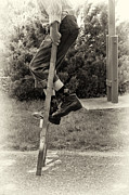 Mary Lee Dereske - First Time on Stilts at White Pine Village in Ludington Michigan