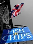 Fish And Chips Print by Samantha Higgs
