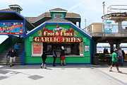 Santa Cruz Ca Metal Prints - Fish And Fries At The Santa Cruz Beach Boardwalk California 5D23687 Metal Print by Wingsdomain Art and Photography