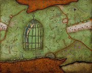 Cage Paintings - Fish Cage by Rossen Nickolov