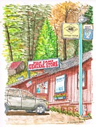 Yosemite Painting Originals - Fish Camp General Store in Yosemite National Park - California by Carlos G Groppa