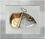 Realism Photo Prints - Fish Can - Acrylic Print in a unique virtual frame Print by Art Grafts