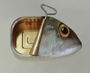 Lunch Photos - Fish Can by Art Grafts by Art Grafts