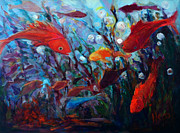 Fish Digital Art Originals - Fish Chatter by Nanci Cook