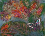 Fish Dream Of Flying Butterfly Dreams Of Swimming Print by Anne-Elizabeth Whiteway