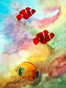 Fish Digital Art Prints - Fish In The Sea Print by Athala Carole Bruckner