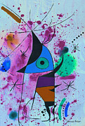 Free Form Painting Metal Prints - Fish Metal Print by Jamie Frier