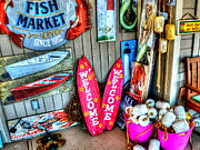 Knick Knacks Posters - Fish Market Poster by Debbi Granruth
