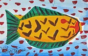 Postcard Painting Originals - Fish Postcard by Troy Thomas