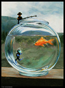 Pun Paintings - Fish Tale by Diana Moses Botkin