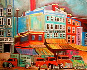 Michael Litvack Paintings - Fisher Bros. Old Montreal Memories by Michael Litvack