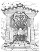 Fisher Railroad Covered Bridge Print by Richard Wambach
