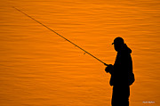 Trout Greeting Card Photo Posters - Fisherman Poster by Crystal Wightman