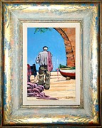 Sicily Paintings - Fisherman on a beach by Antonio Luciani