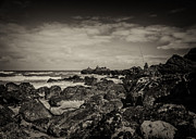 Seawall Prints - Fisherman on the Rocks Print by Marco Oliveira