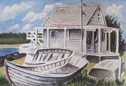 Bruce Springsteen Painting Prints - Fishermans Cove  Print by Melinda Saminski