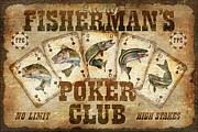 Fishermans Poker Club Print by JQ Licensing