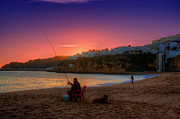 Praia De Faro Prints - Fishermans Sunset Print by Nigel Hamer