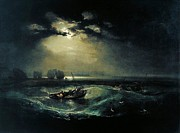 Romanticism Posters - Fishermen at sea 1796  Poster by Joseph Mallord William Turner