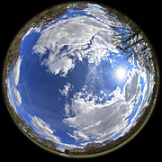 Season. Sky. Clouds Prints - Fisheye park Print by Jane Rix