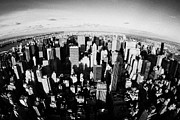 Manhaten Prints - Fisheye View North Towards Central Park Manhattan New York City Usa Print by Joe Fox