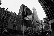 Manhaten Prints - Fisheye View Of 34th Street From 1 Penn Plaza New York City Print by Joe Fox