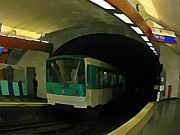 Tunnels Framed Prints - Fisheye View of Paris Subway Train Framed Print by John Malone