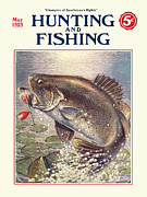 Antique Digital Art Posters - Fishing and Hunting Magazine Poster by Gary Grayson