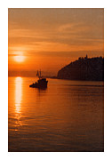 Puget Sound Photographs Posters - Fishing at sunrise Poster by Jack Pumphrey