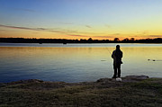 Purchase Photography Online Prints - Fishing At Sunset Print by Steven  Michael