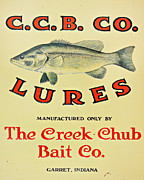 Fishing Bait Advertising Sign Print by Randy Steele