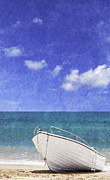 Beach Photograph Posters - Fishing Boat Algarve Portugal Poster by Christopher and Amanda Elwell