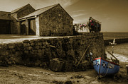 Sennen Cove Prints - Fishing boat at Sennen Cove  Print by Rob Hawkins