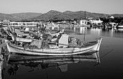 Kalloni Framed Prints - Fishing boat in Lesvos Framed Print by George Atsametakis