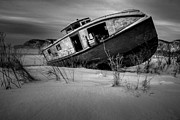 Winter Photos Posters - Fishing Boat Poster by Jakub Sisak