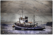 At Work Mixed Media Prints - Fishing boat Print by Peter v Quenter