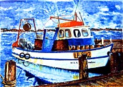 Oils Pastels - Fishing Boat by Susan Robinson