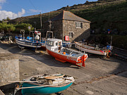 Fishing Village Posters - Fishing Boats at Mullion Cove Poster by Louise Heusinkveld