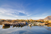 Industrial Background Originals - Fishing Boats by Duy Black